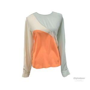 Stella McCartney Colorblock Silk Blouse Size 42